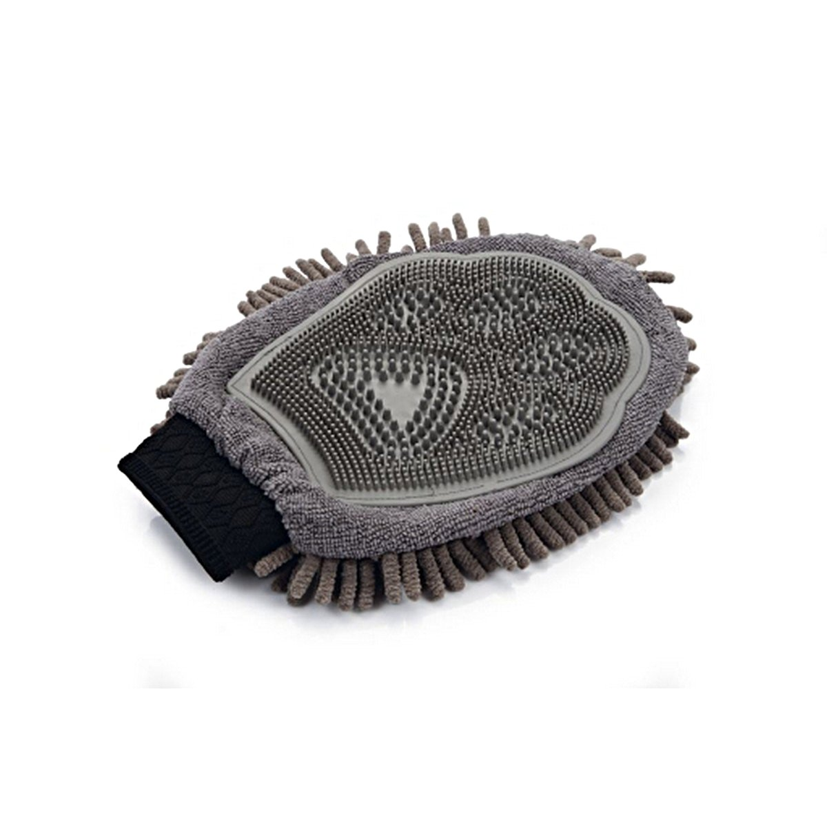 Afbeelding van Dirty Dog Grooming Handschoen Grijs 25x18x2cm