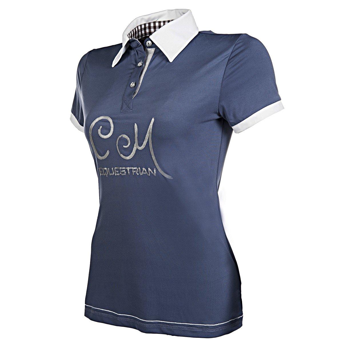 Afbeelding van Cavallino Marino Dames poloshirt Soft powder blauw XL