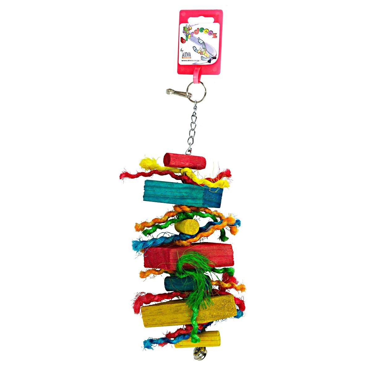 Afbeelding van Birdeeez Parakeet Toy Wood Straight 26cm