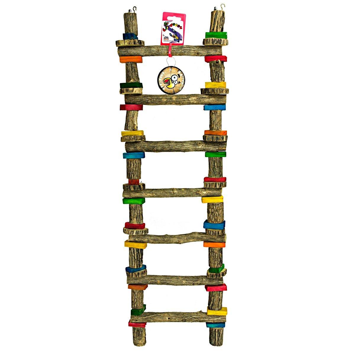Afbeelding van Birdeeez 7 step Sekelbos Ladder X Large