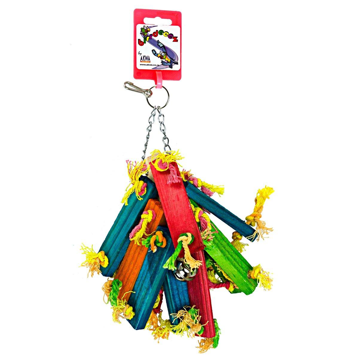 Afbeelding van Birdeeez Parakeet Toy Wood Bunch Of 21cm
