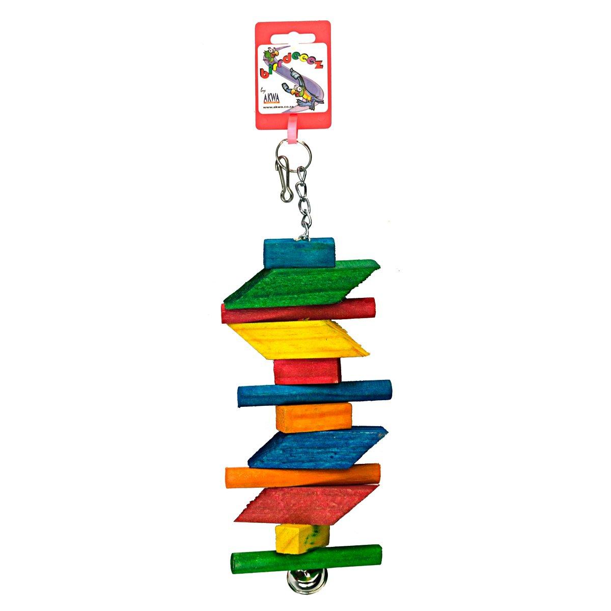 Afbeelding van Birrdeeez Parakeet Toy Wood Zig Zag