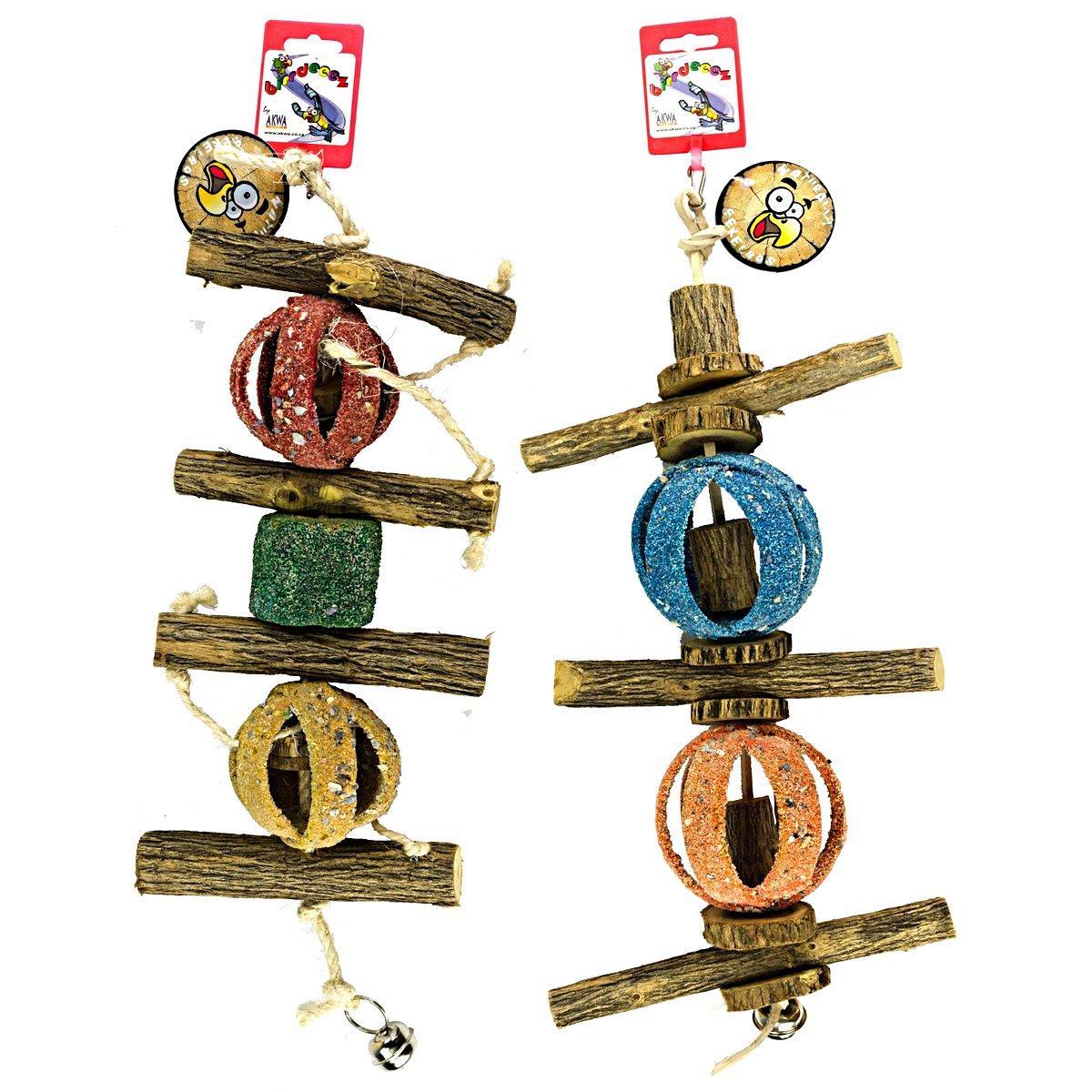Afbeelding van Birrdeeez Coral Ball Sekelbos Puzzle Bird Toy