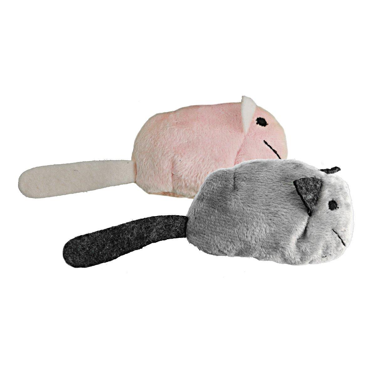 Afbeelding van Crazy Cat Fat Mouse Vol Met Catnip Grijs