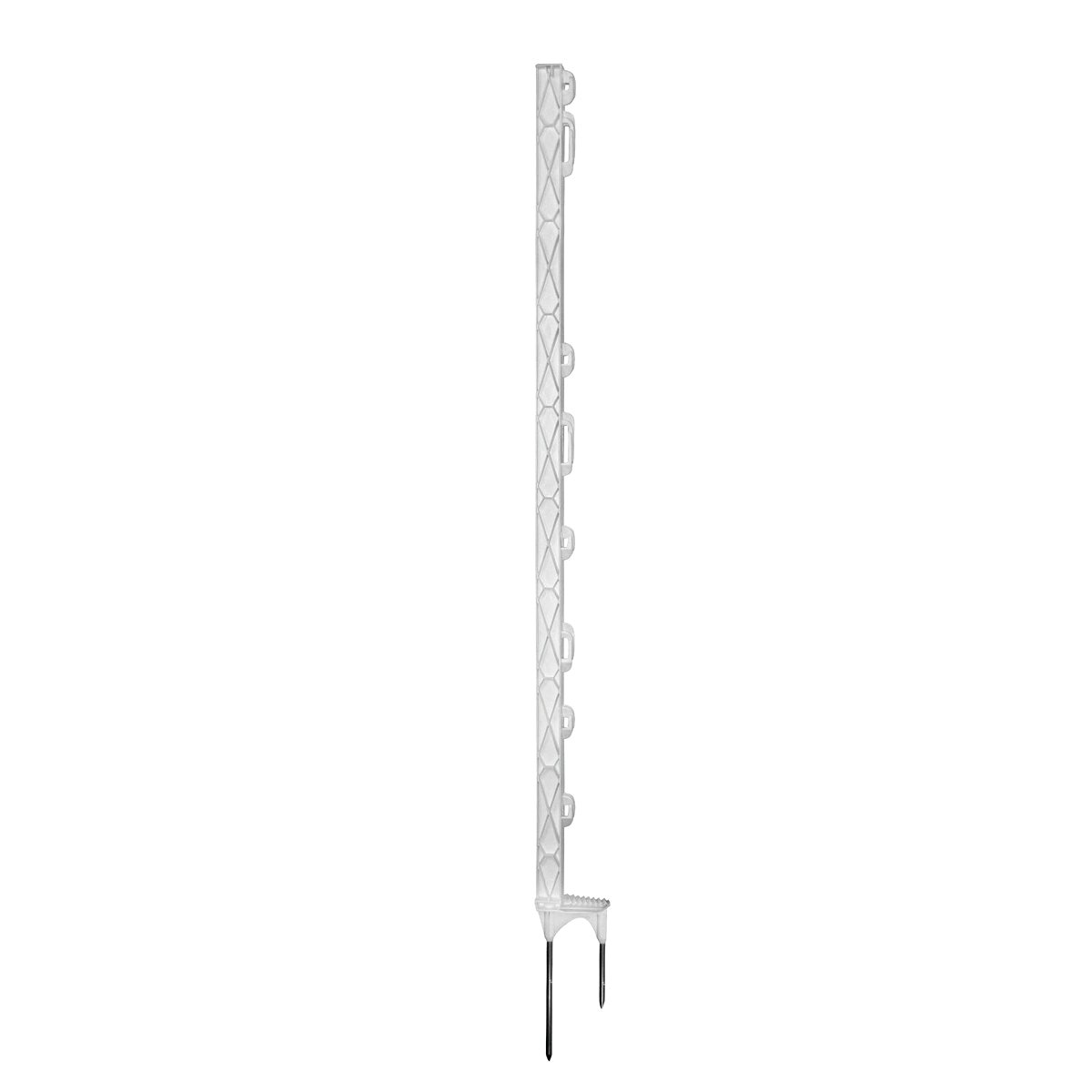 Abbildung von Ako TITAN PRO Kunststoffpfahl, Doppelspitze, Weiß 157cm