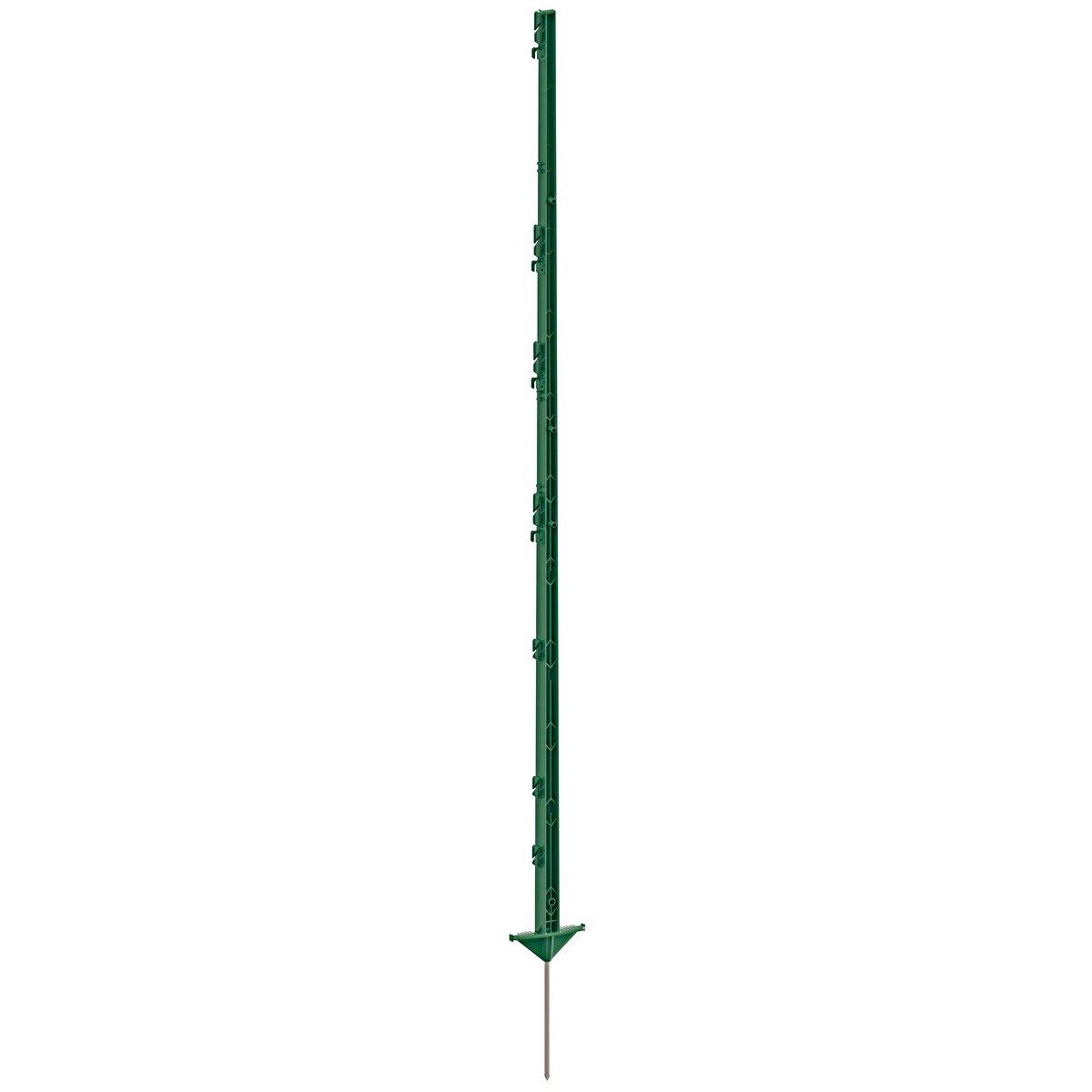 Abbildung von Ako Vollkunststoffpfahl mit Steigbügeltritt, Grün 114cm