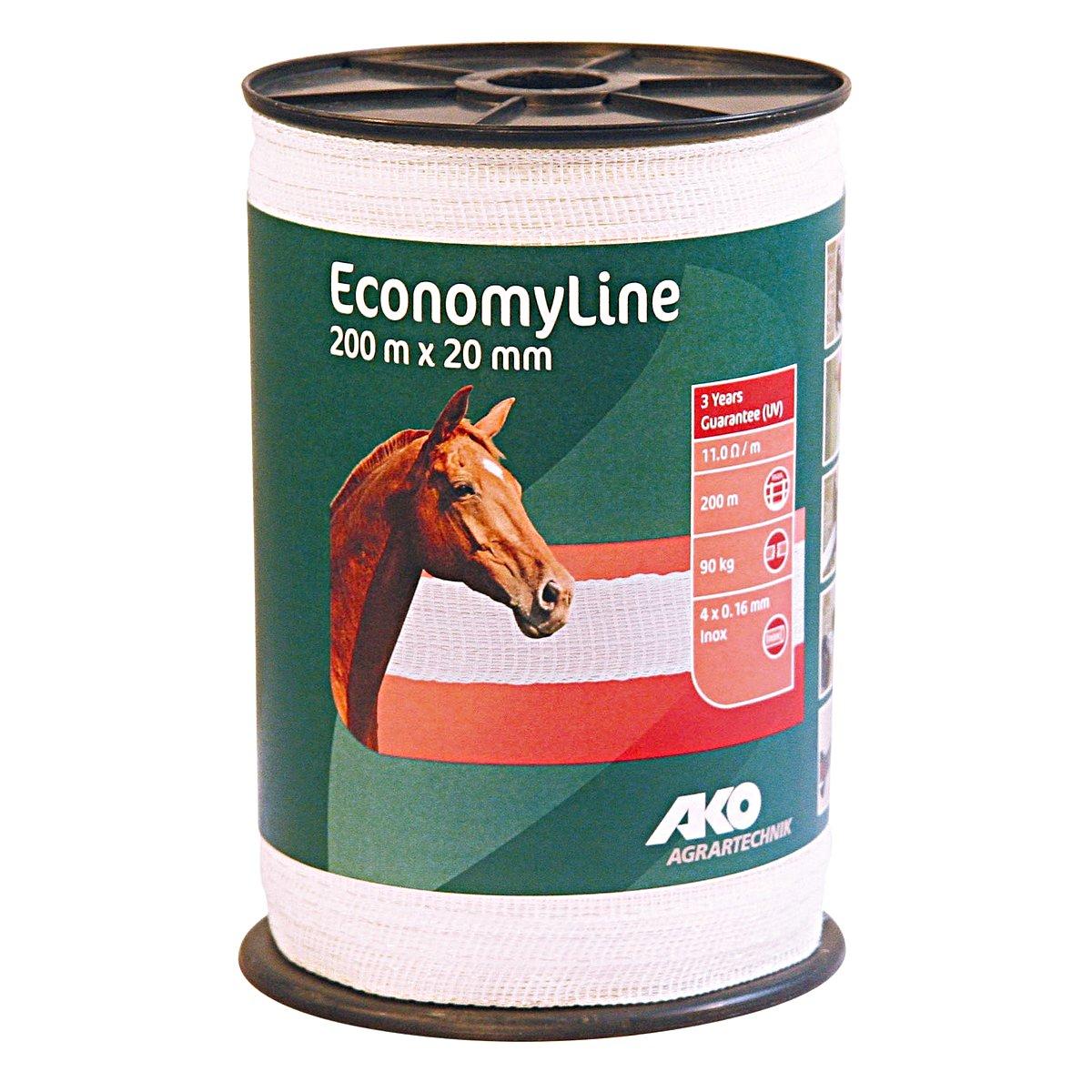 Abbildung von Ako Band EconomyLine, 200m Weiß 20mm