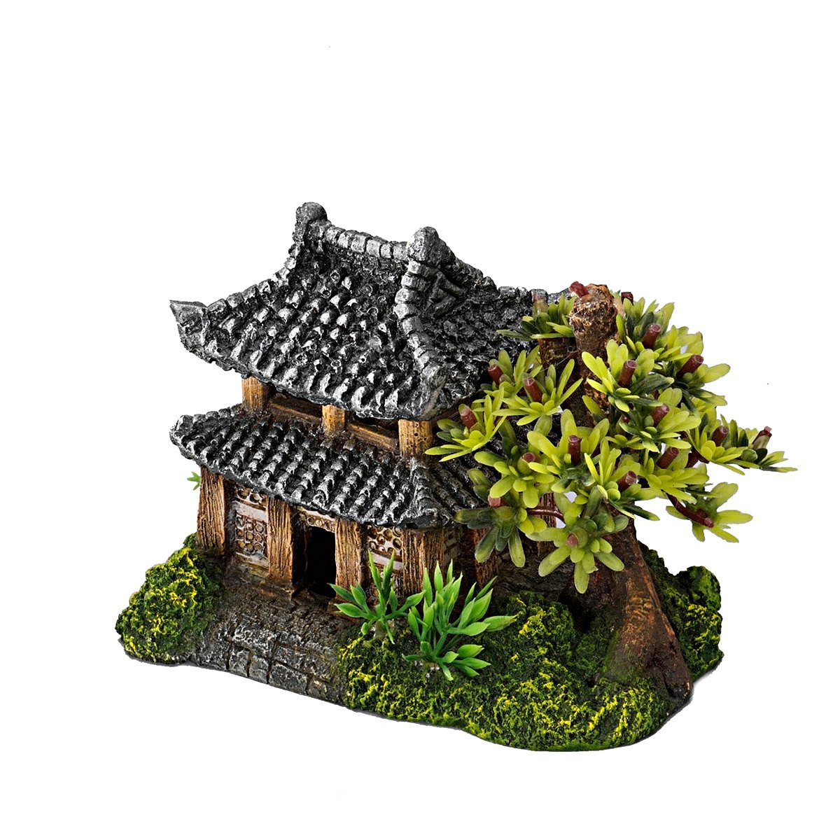 Afbeelding van Aqua D Ella Asian House With Plants 14x9x10cm