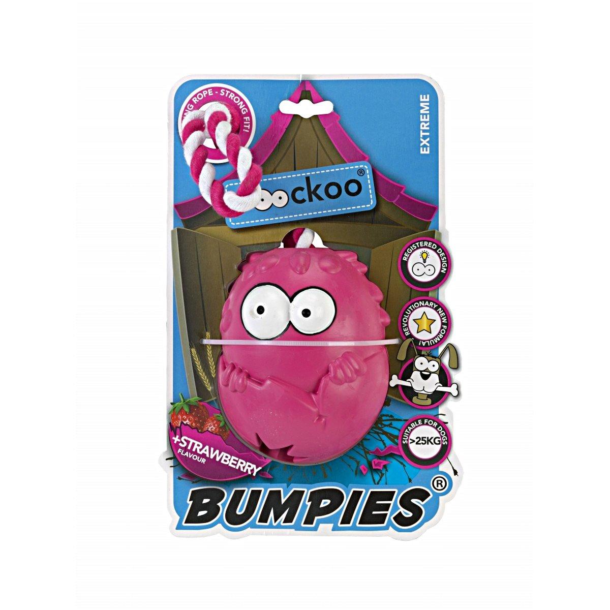 Afbeelding van Coockoo Bumpies With Rope Hot Pink Roze 11x8,7x7,5cm