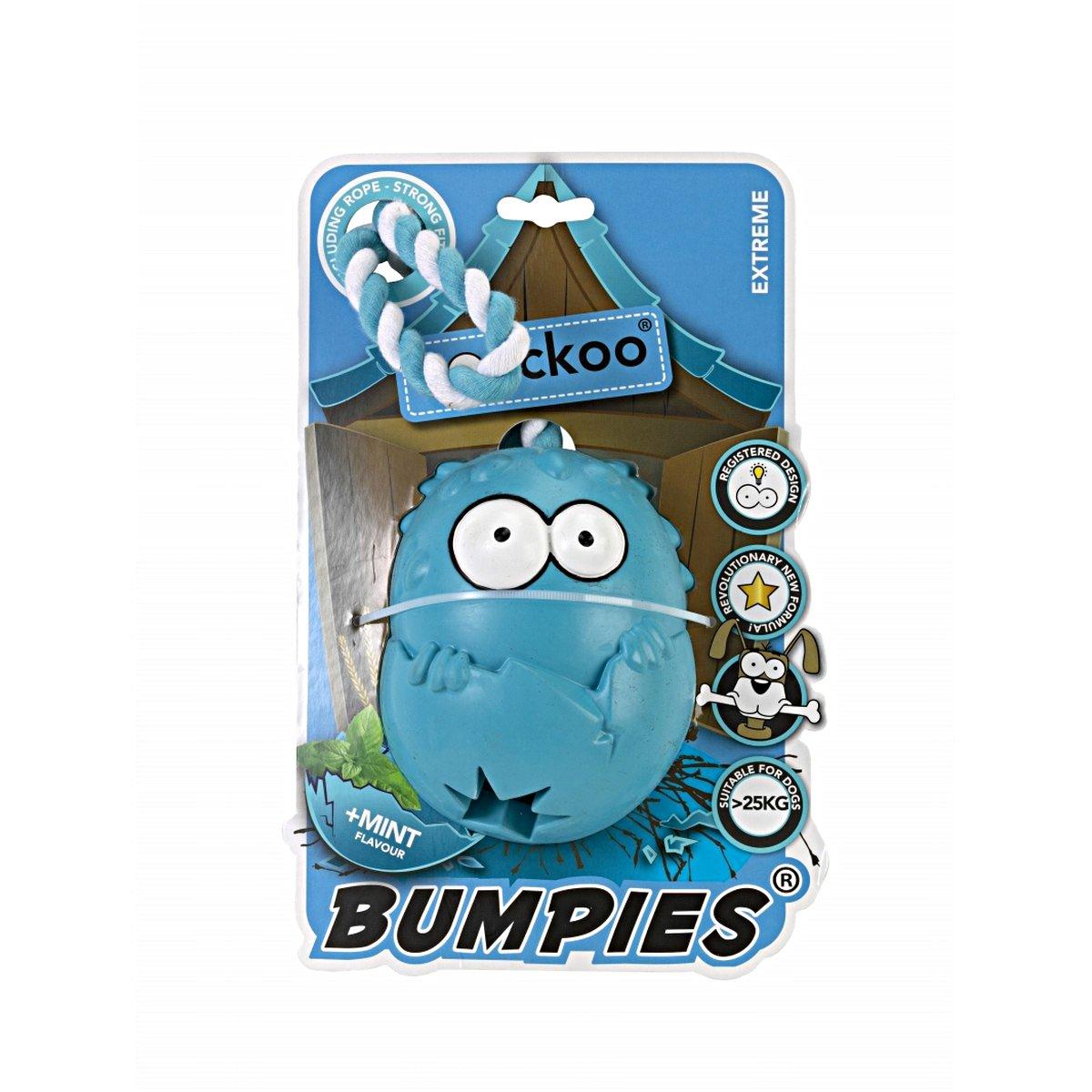 Afbeelding van Coockoo Bumpies With Rope Caribbean Blue Blauw 11x8,7x7,5cm