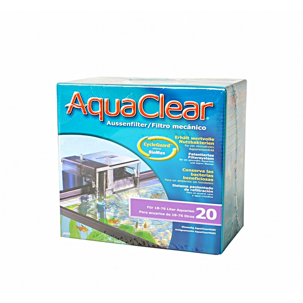 Afbeelding van Aquaclear 20 Power Filter O24 P480 18x11x17cm