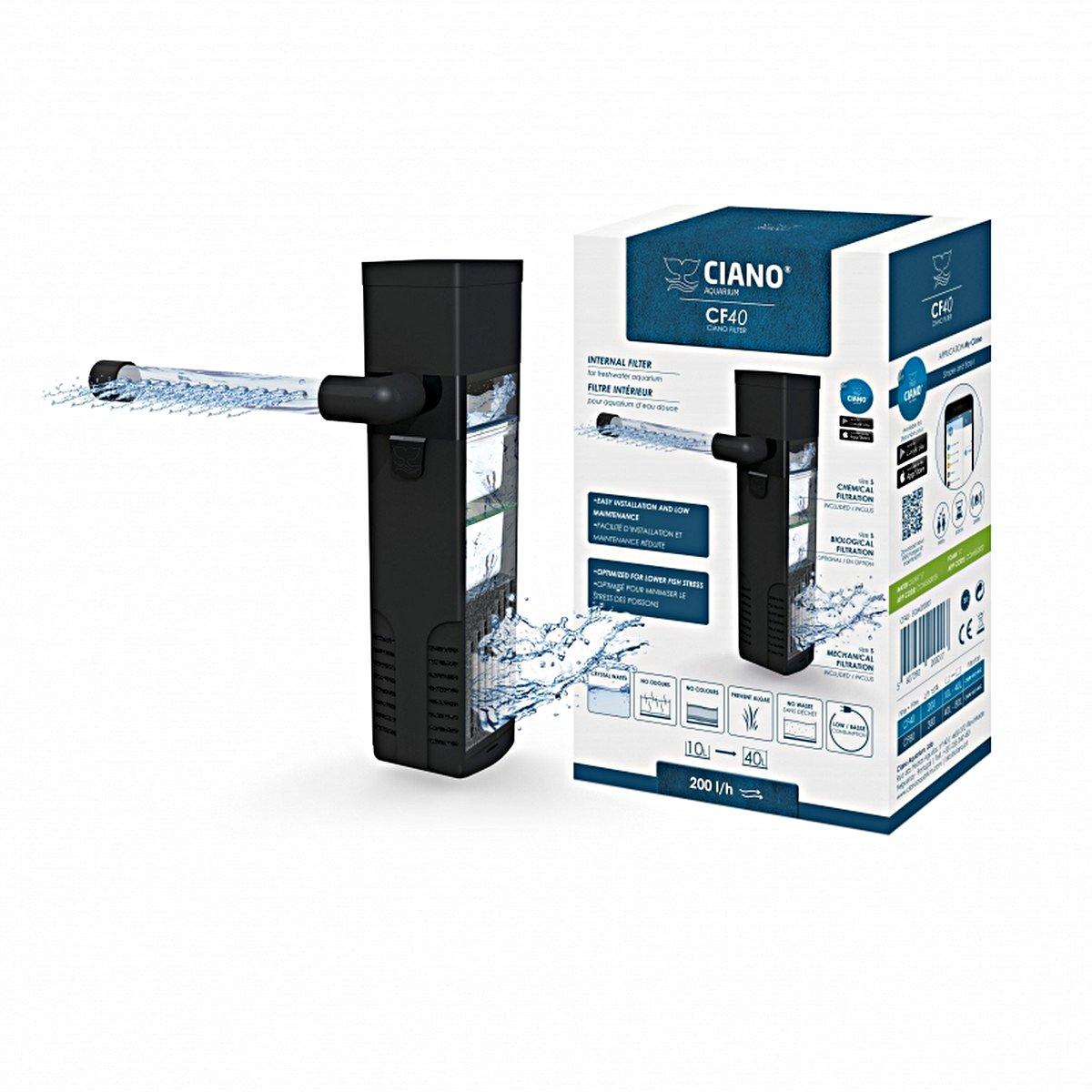 Afbeelding van Ciano Binnenfilter Cf40 Zwart 3,5x5,5x14cm