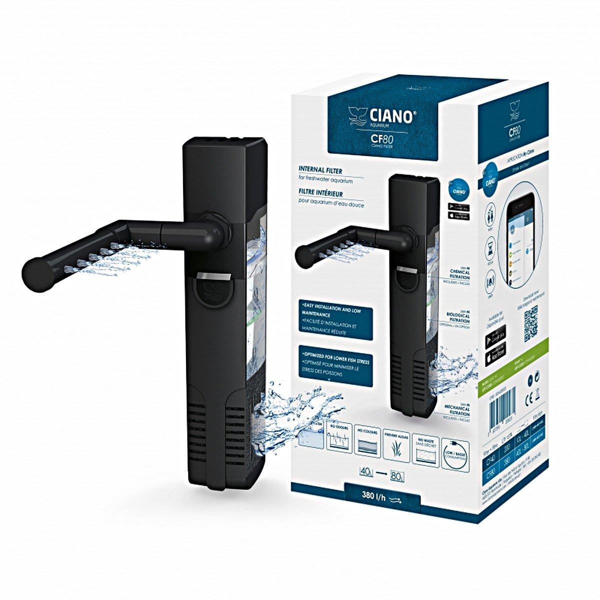 Afbeelding van Ciano Binnenfilter Cf80 Zwart 4,3x6,2x18,5cm