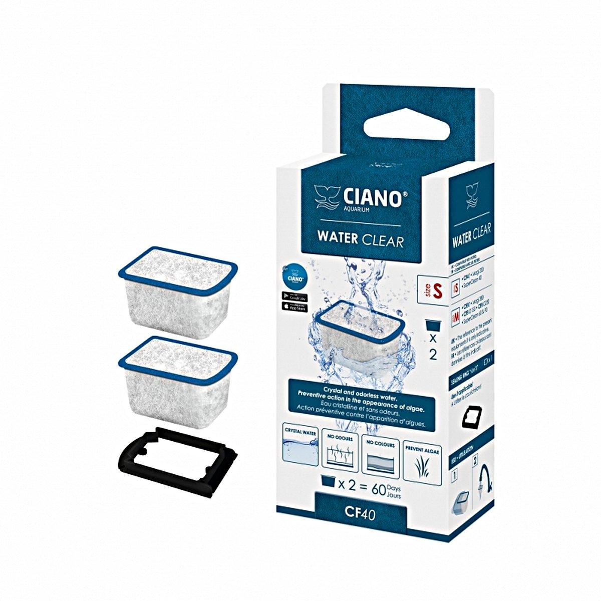 Afbeelding van Ciano Water Clear 2st Blauw 3,8x3x2,3cm
