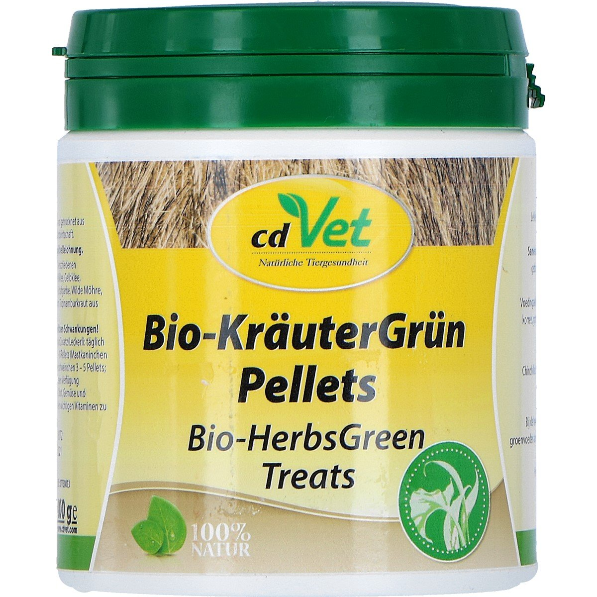 Afbeelding van cdVet Bio KräuterGrün Pellets 400g