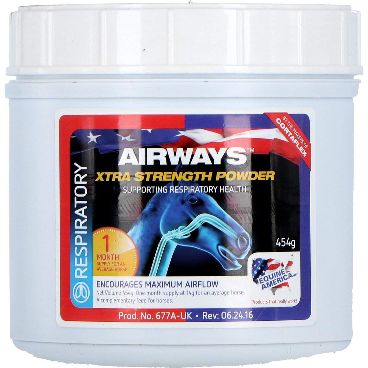 Afbeelding van Equine America Airways Xtra Powder 454gm