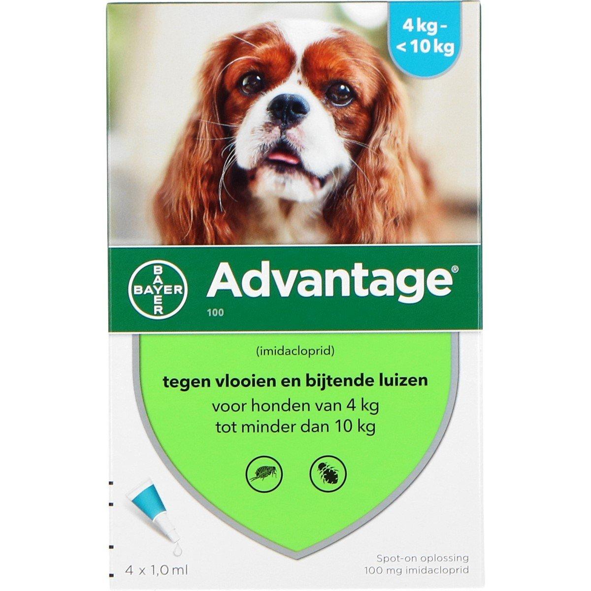 Afbeelding van Advantage 100 Spot on Hond 4 10kg Pipetten