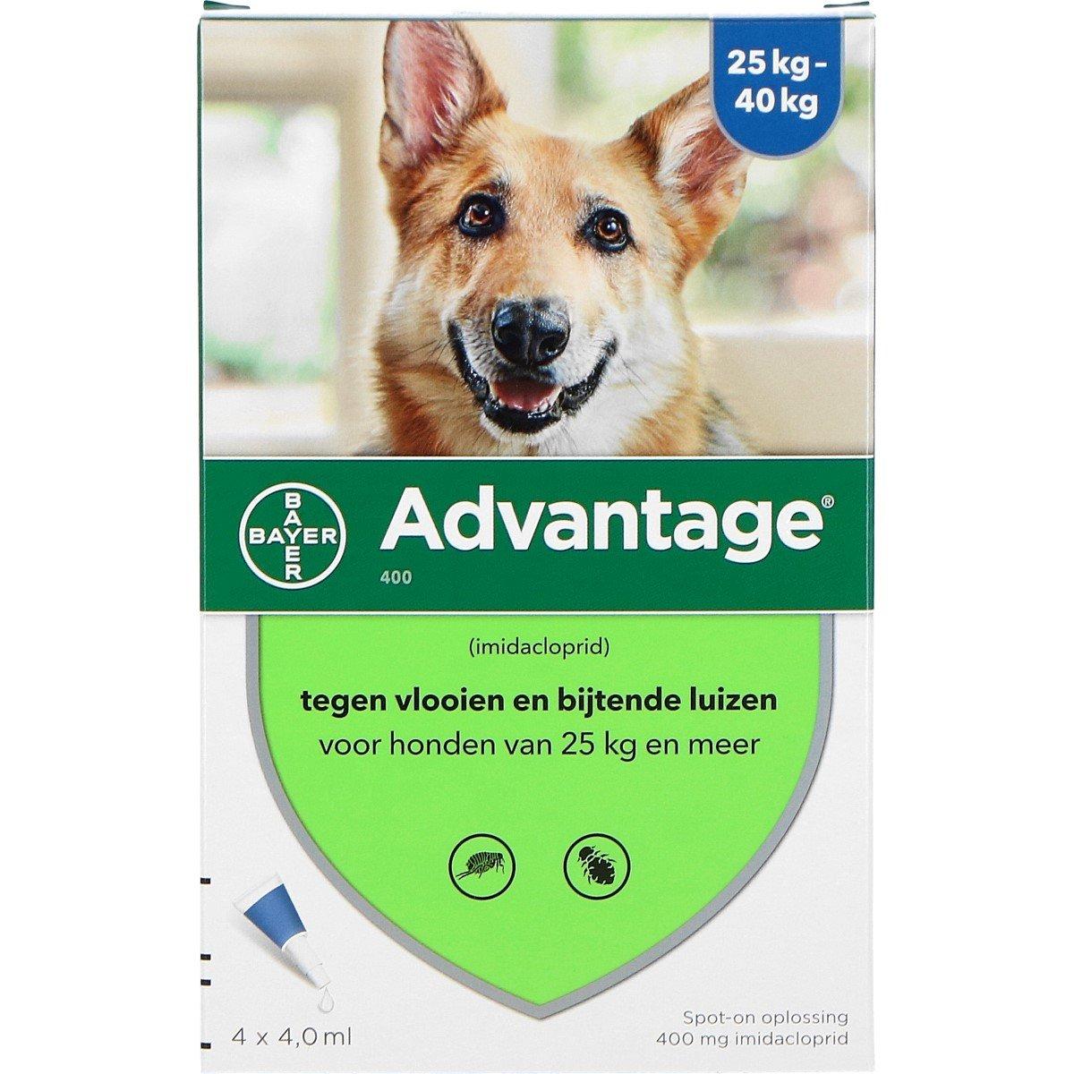 Afbeelding van Advantage 400 Spot On Hond 25 40kg 4 Pipetten