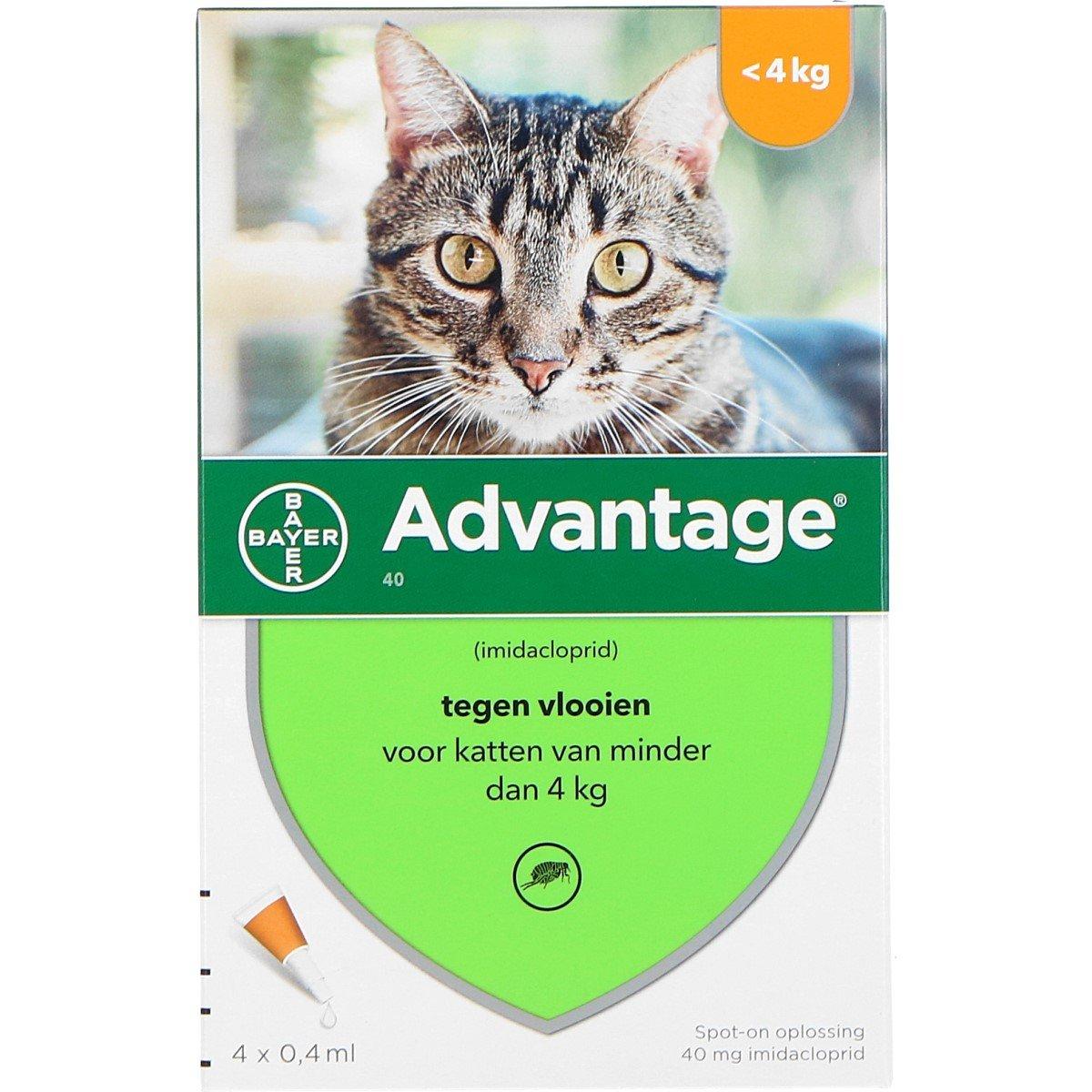 Afbeelding van Advantage 40 Spot On Kat <4kg 4pip