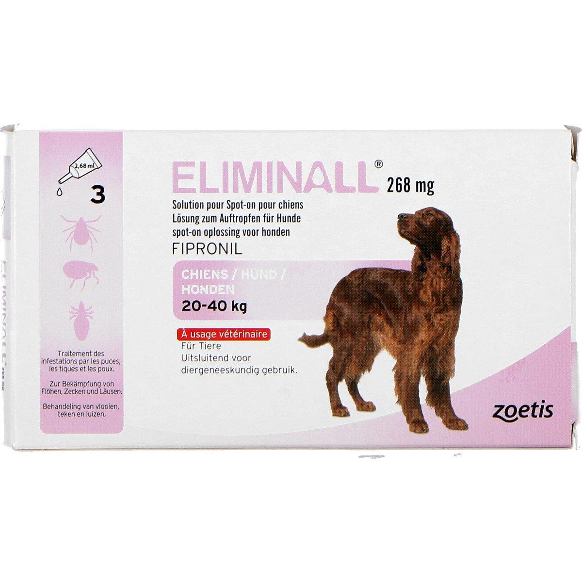 Afbeelding van Eliminall Spot on Hond L 20 40kg 3 Pipetten