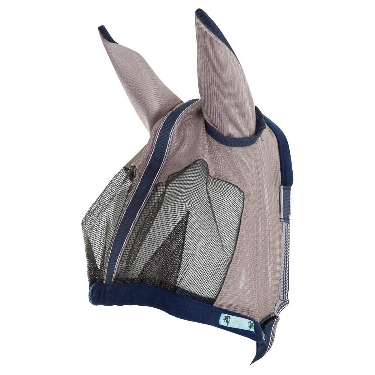 Imagem de BR Fly Mask 4 EH with Ears Old Silver Pony