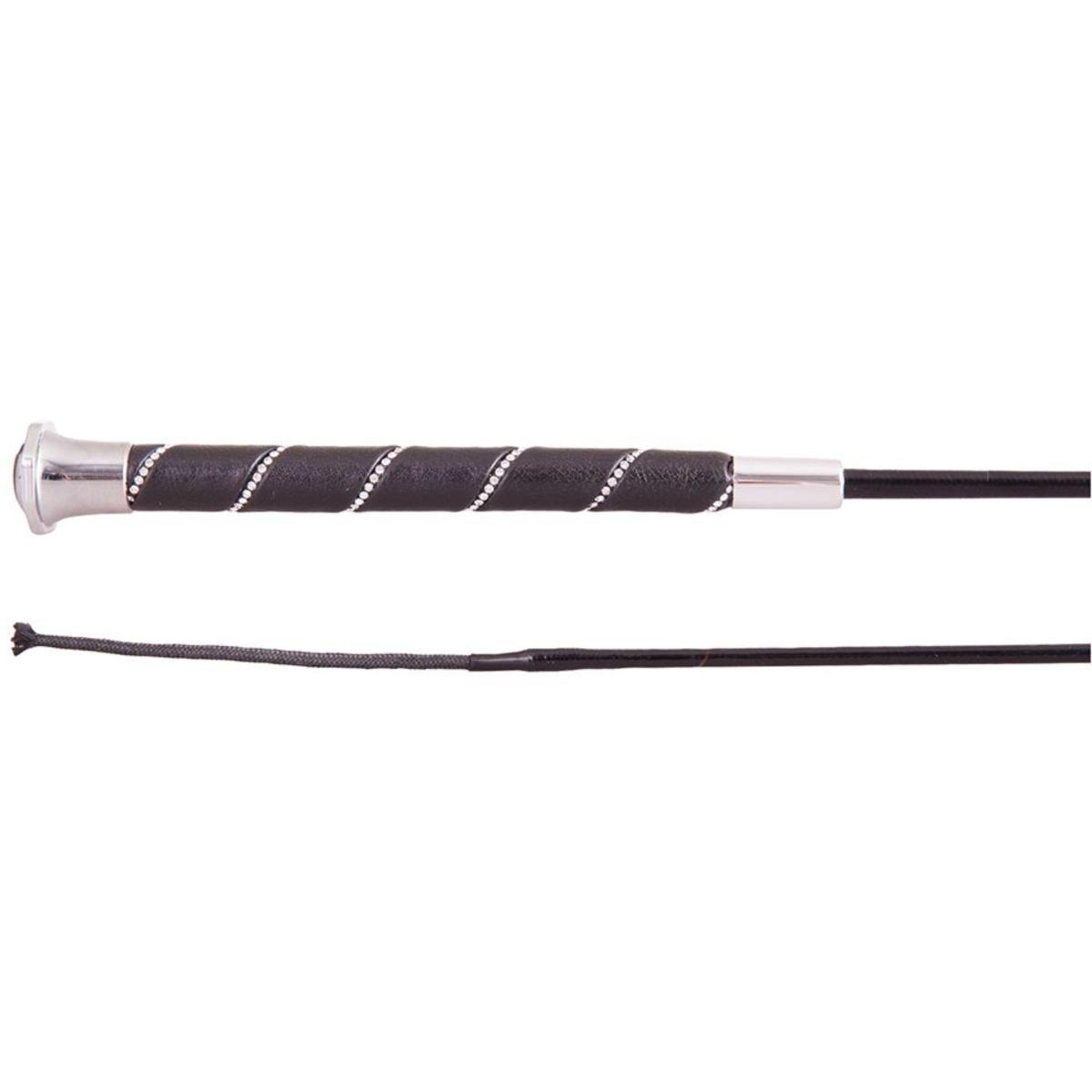 Imagem de BR Dressage Whip Orion Black / Silver 100cm