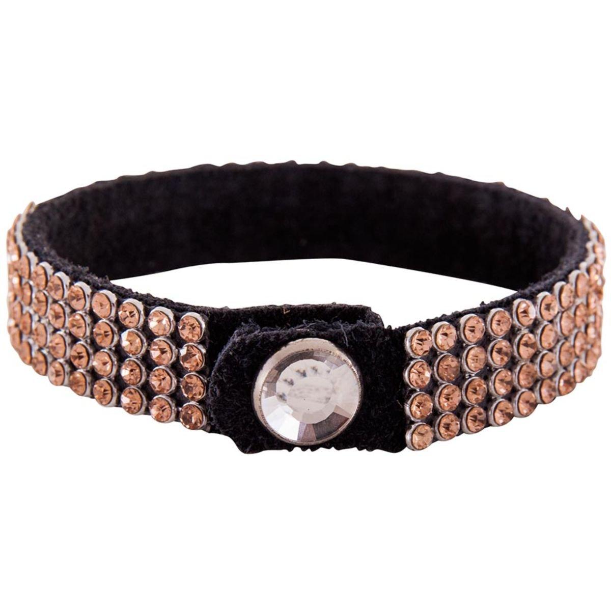 Afbeelding van BR Armband Crystallized met Rhinestone Button Perzik