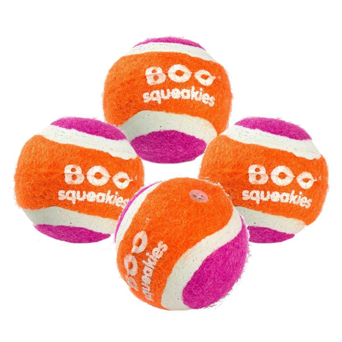 Afbeelding van Charley & Molley Chase Tennis Ball Squekies 4 pack 4,5cm 4st