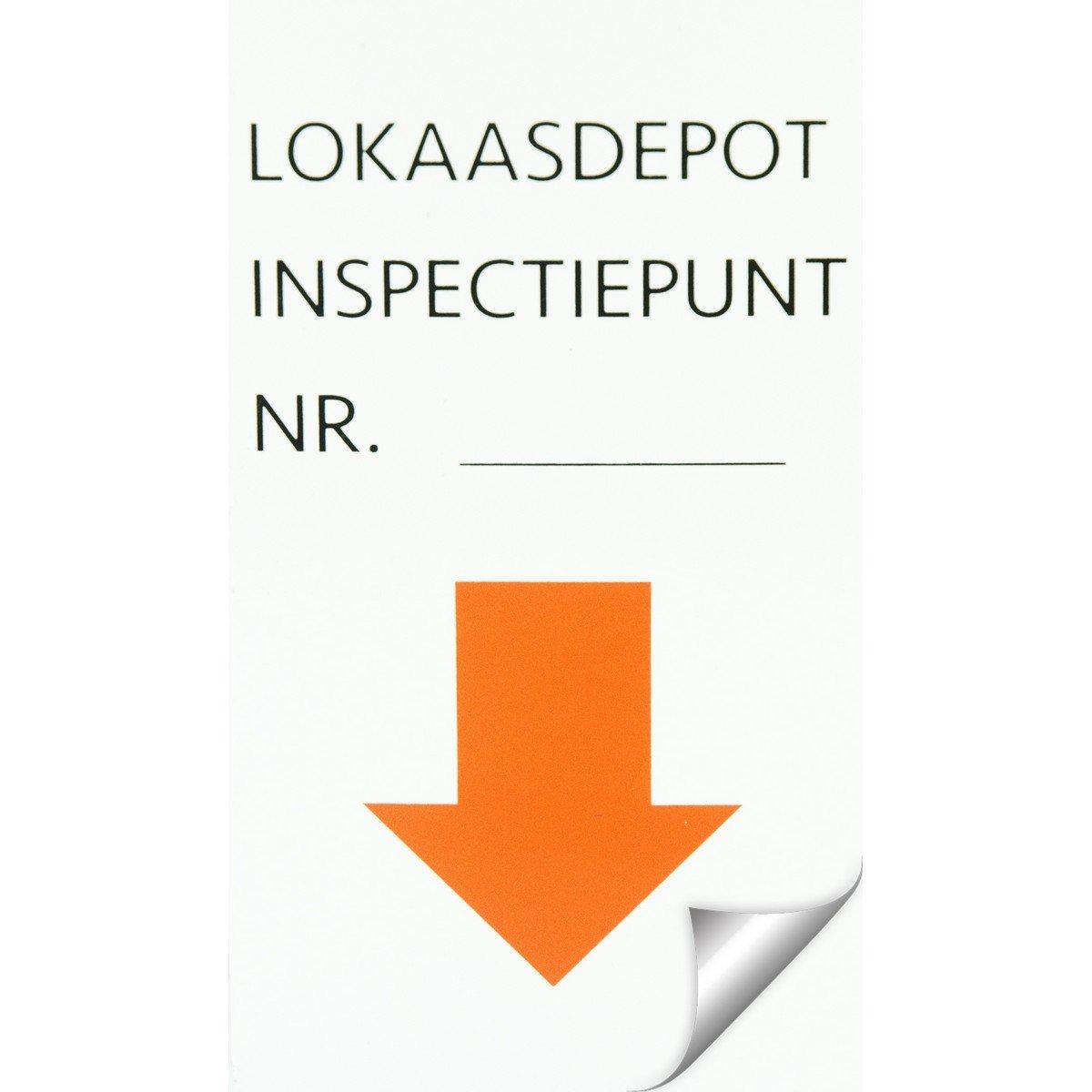 Afbeelding van Agradi Sticker Inspectiepunt 5 x 9cm