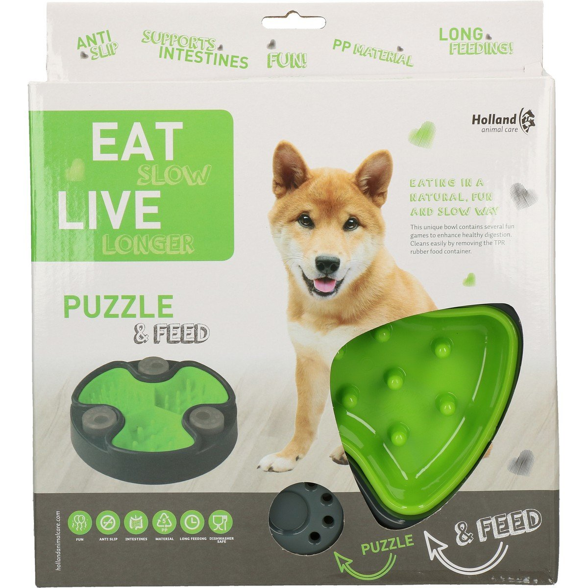 Afbeelding van Eat Slow Live Longer Puzzle and Feed Green 23,5cm