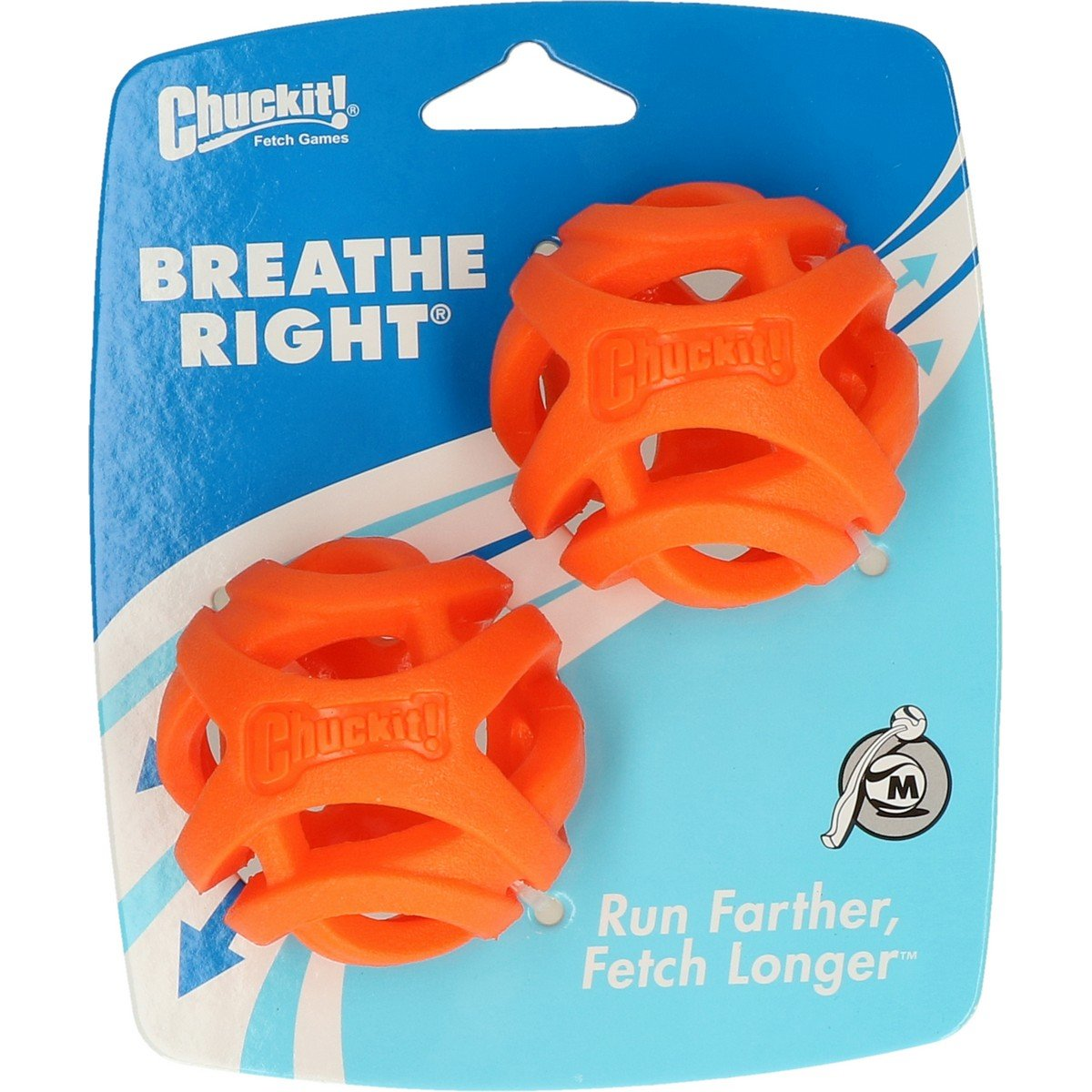 Afbeelding van Chuckit Bal Breathe Right Fetch 2 pack Oranje 6,4cm