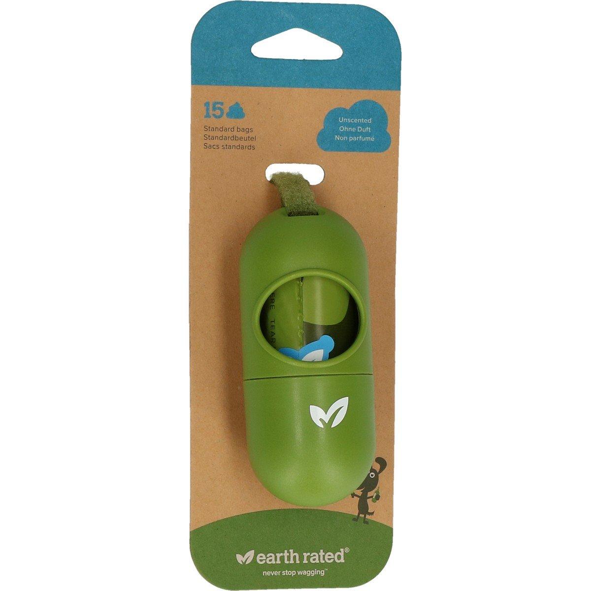 Afbeelding van Earth Rated Poepzakjes Dispenser Geurloos Eco Groen 15st