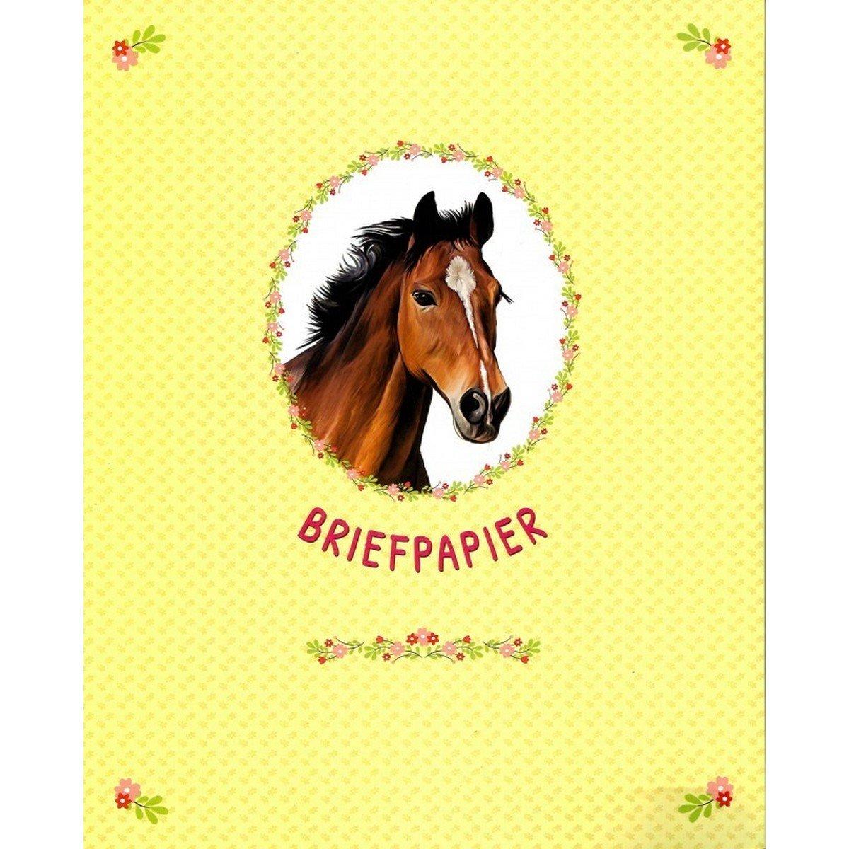 Afbeelding van Briefpapier Paarden