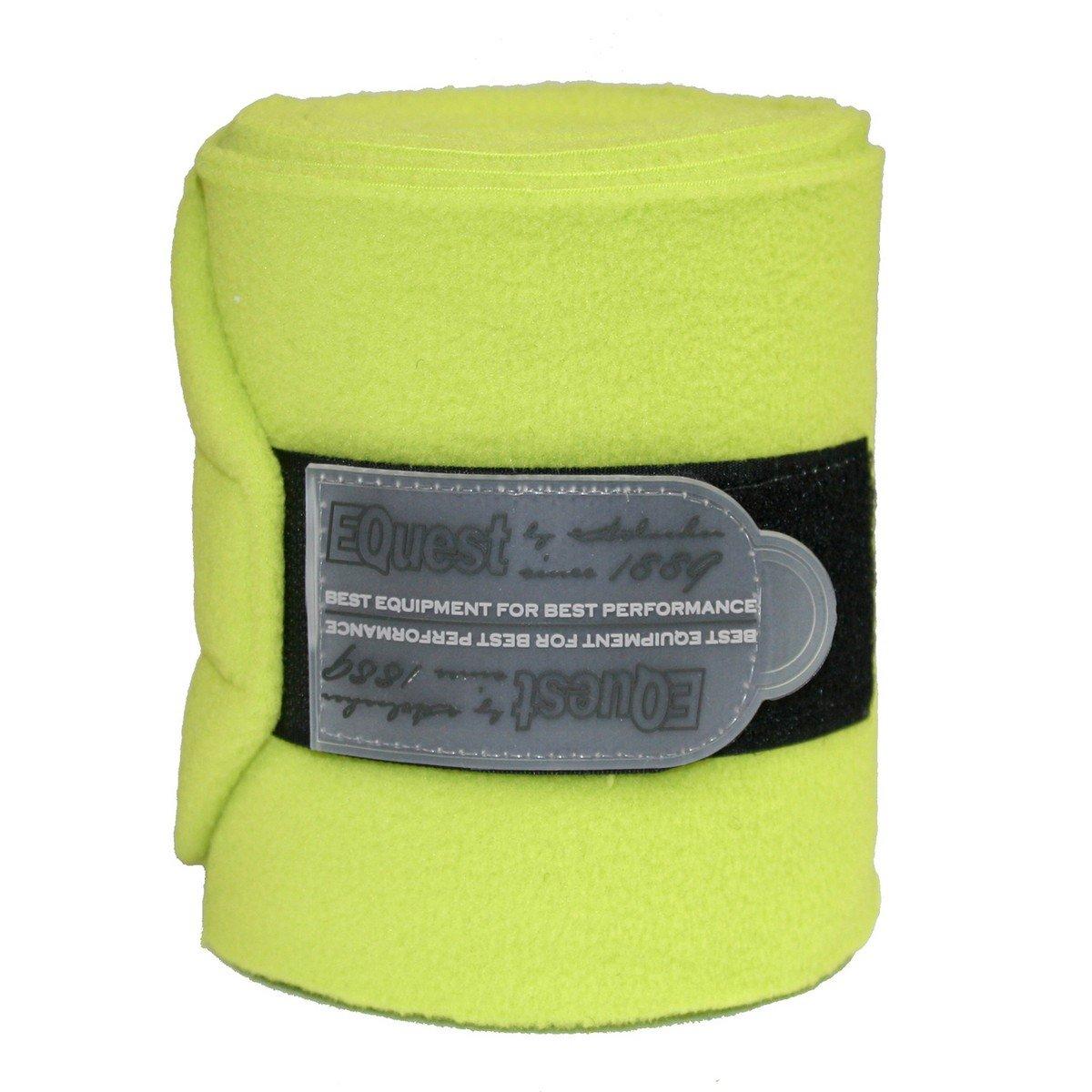 Afbeelding van EQuest Bandage Alpha Fleece 4st 12cm Lime 3m