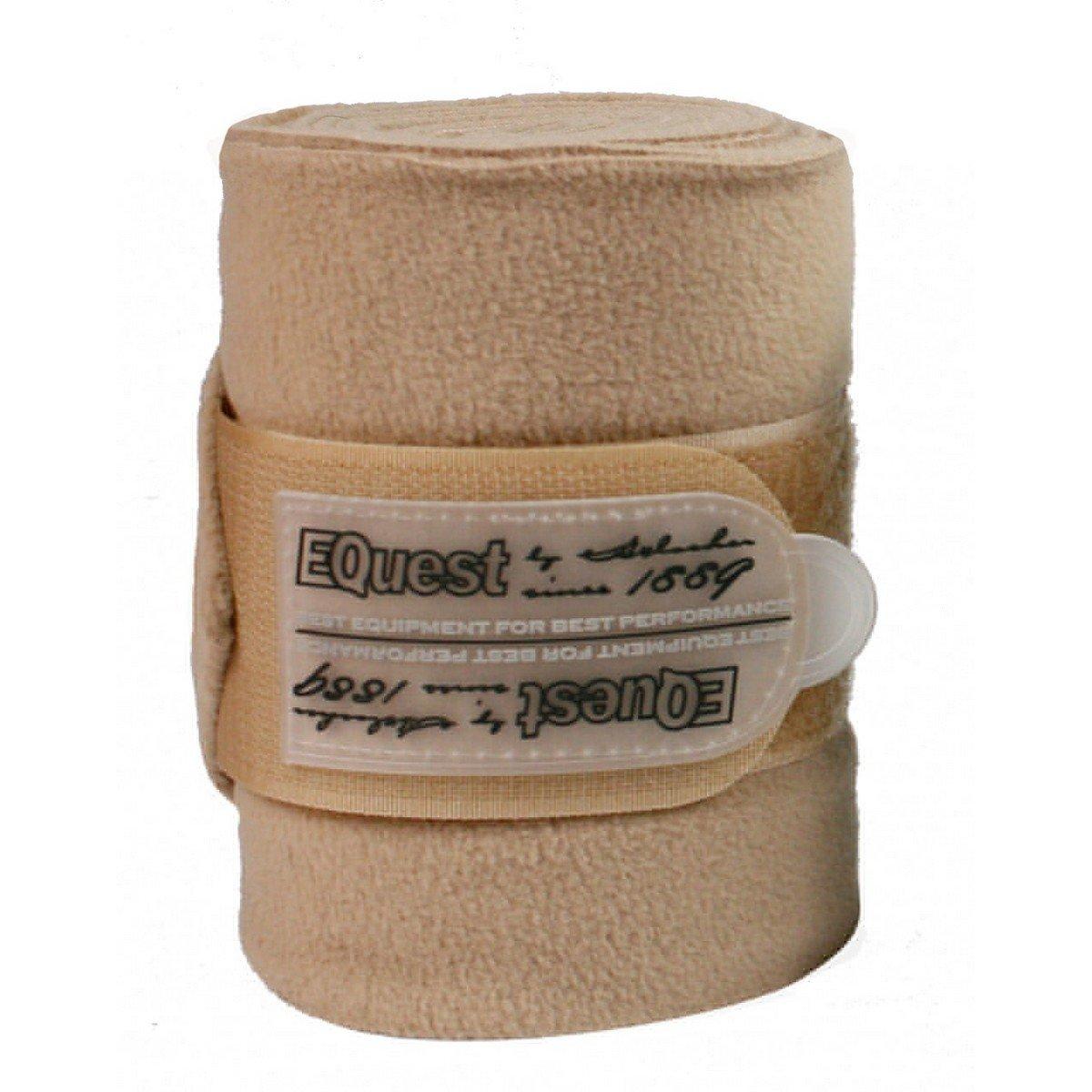 Afbeelding van EQuest Bandage Alpha Fleece 4st 12cm Sand 3m