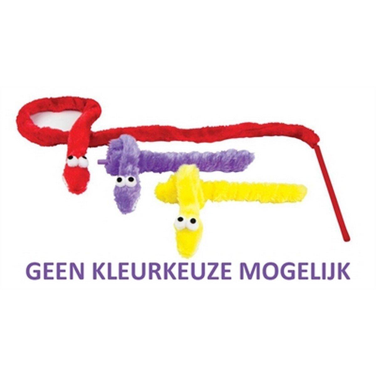 Afbeelding van Pluche Kattenhengel Slang Met Ratel 75cm