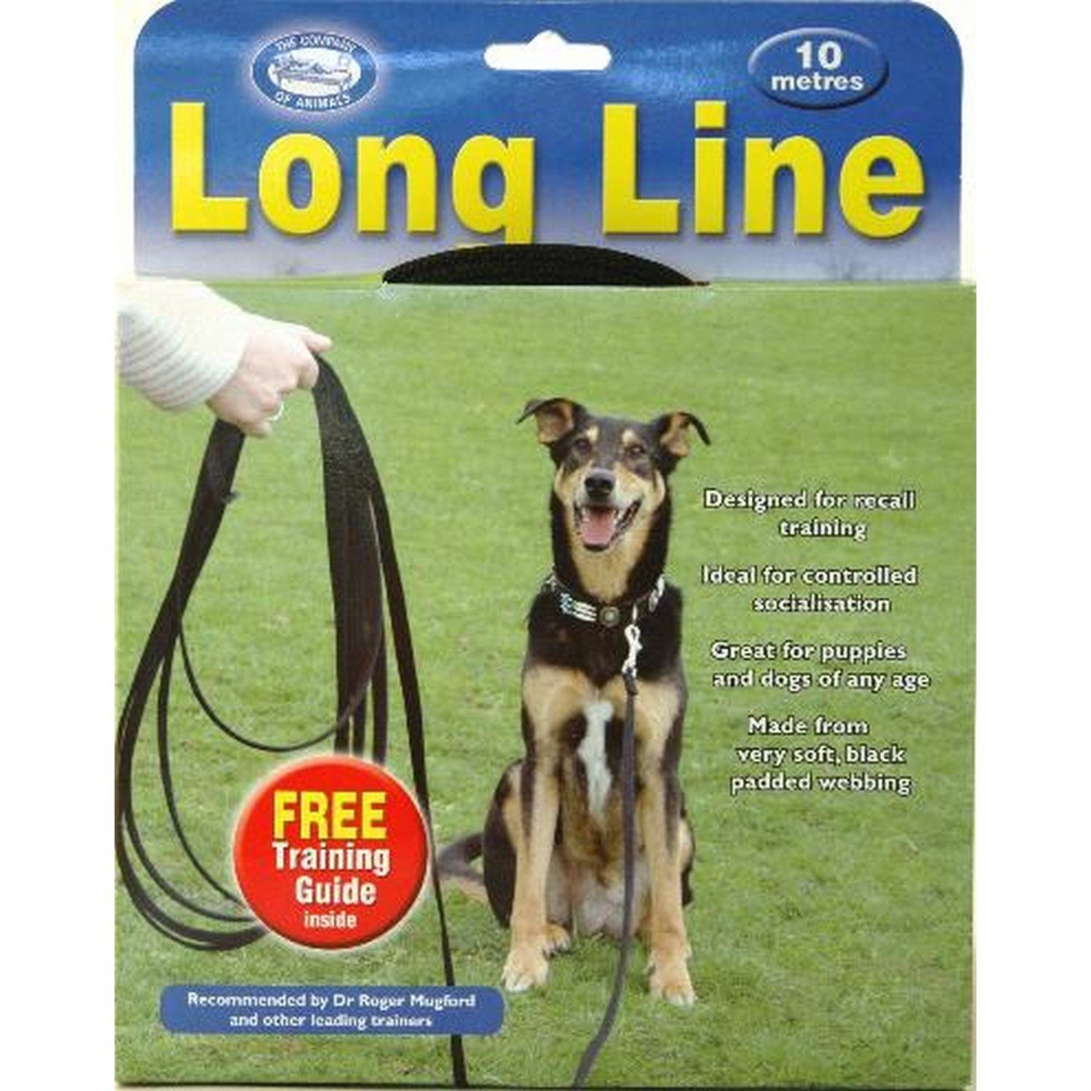 Afbeelding van Clix Terugroeplijn Hond Zwart 10m