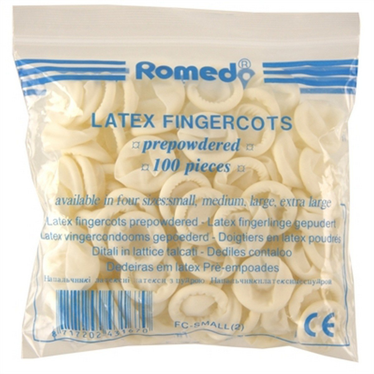 Afbeelding van Romed Vingercondooms Latex L