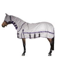 Imperial Riding UV Rug with a Hood and a Belly Bib Lightblue
