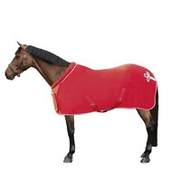 HKM Fleece Rug Collar Red