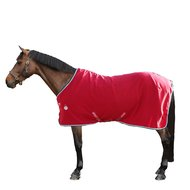 Amigo by Horseware Stable Sheet with Cross Surcingles Red/White/Green/Black