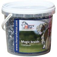 Harrys Horse Petits Élastiques Magic Braids Pot Argent
