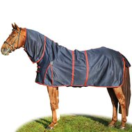HKM Anti Fly And Riding Sheet Cannes dark blue/red