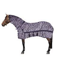 Harrys Horse Flysheet Mesh with Neck and Surcingles Zebra
