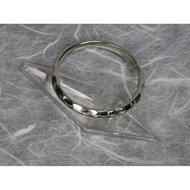 Adola Sleutelring Grijs 3,6cm