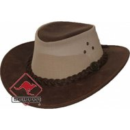 Scippis Lederen hoed Darwin tan