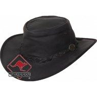 Scippis Kangaroo Lederen hoed Dawson Bruin