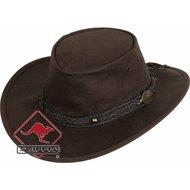 Scippis Lederen hoed Roo Walkabout Bruin