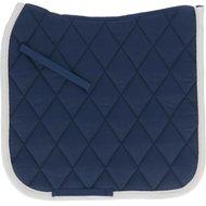 BR Saddlepad Dressage Event Blue/Cream trim Full