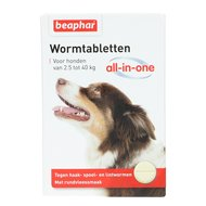 Beaphar Wormtabletten All-in-One 2,5 -40kg 4st